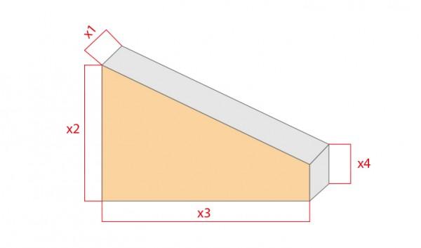 Schaumstoff-Zuschnitt-Rechteck mit Abschnitt