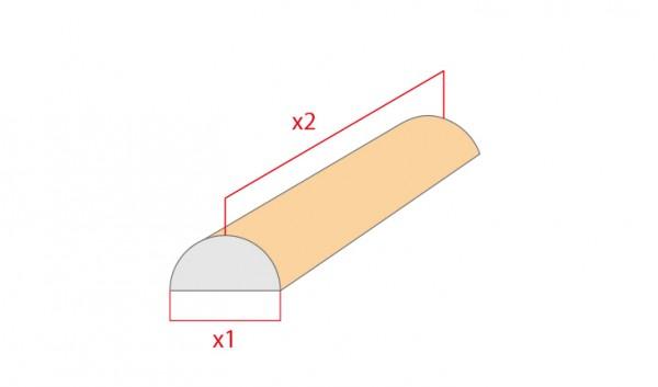 Schaumstoff-Zuschnitt-Halbrolle