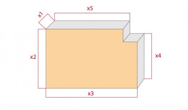 Schaumstoff-Zuschnitt-Rechteck mit Ausschnitt