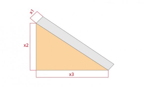 Schaumstoff-Zuschnitt-Dreieck